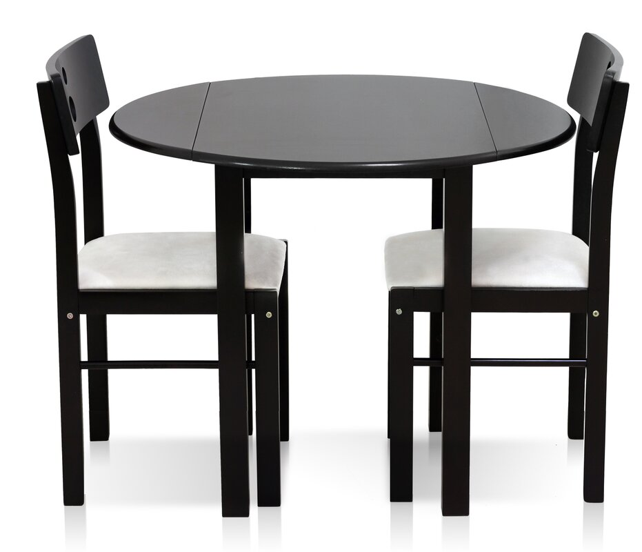Cos Drop Leaf Solid Wood 3 Piece Dining Set. Round Kitchen   Dining Room Sets You ll Love   Wayfair