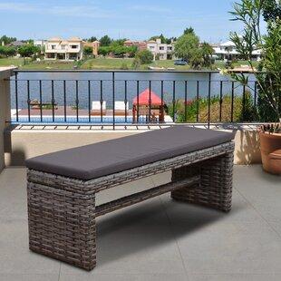 image modern wicker patio furniture. Tergel Resin Wicker Garden Bench Image Modern Wicker Patio Furniture U