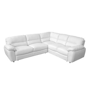 Cleona Leather Sleeper Sectional By Red Barrel Studio