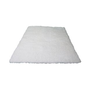 Find for Marshburn Hand-Tufted White Area rug By Latitude Run