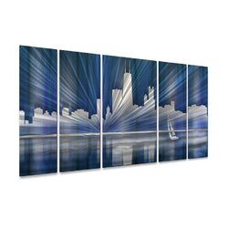 Chicago Skyline Wall Art all my walls chicago skylineash carl 5 piece graphic art