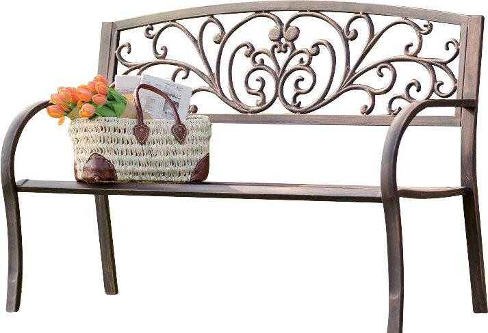 blooming iron garden bench - Garden Bench