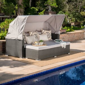 Welsh Outdoor Wicker Daybed with Cushions