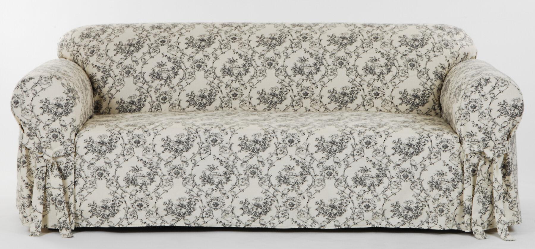 Clic Slipcovers Toile Print Box Cushion Sofa Slipcover Reviews Wayfair