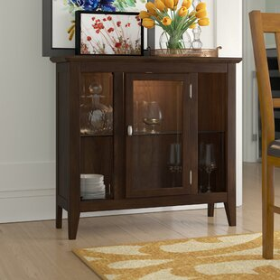 Gilboa Entryway Lighted Console Curio Cabinet