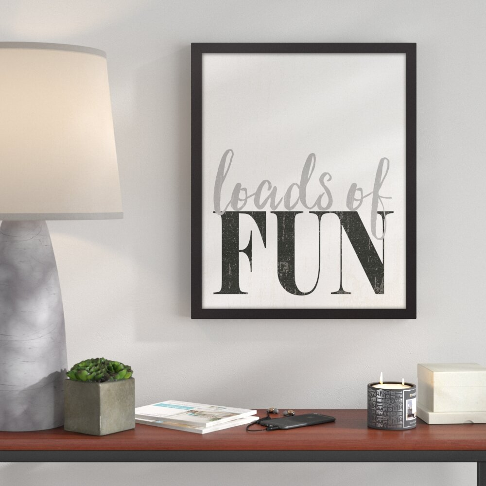 Ivy Bronx Loads Of Fun Laundry Room Framed Textual Art On Canvas Reviews Wayfair
