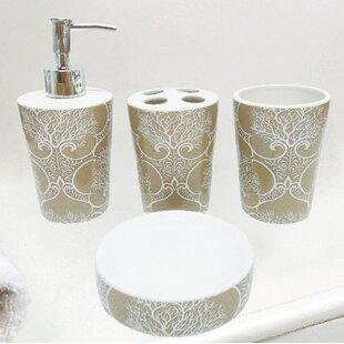 Almont C Life Ceramic 4 Piece Bathroom Accessory Set