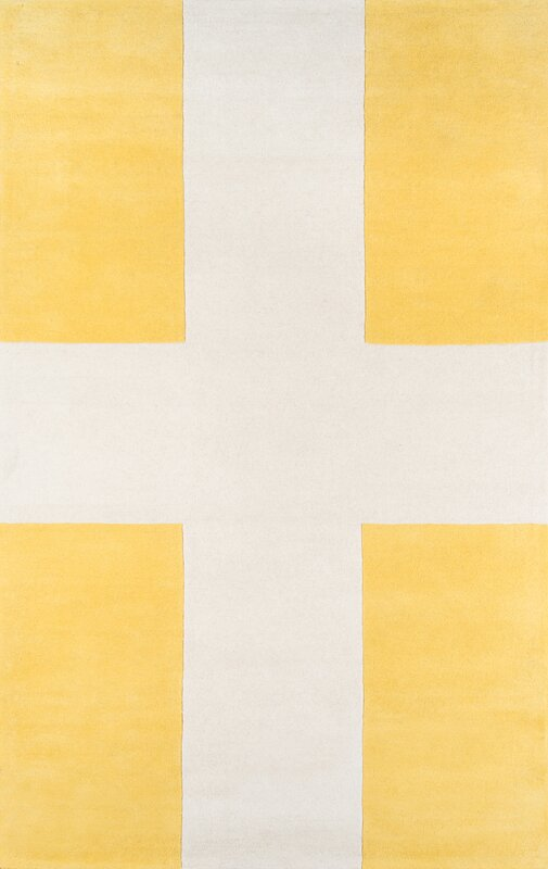chevalier handtufted yellow area rug