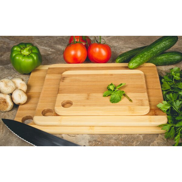 Imperial Home 3 Piece Bamboo Cutting Boards U0026 Reviews | Wayfair