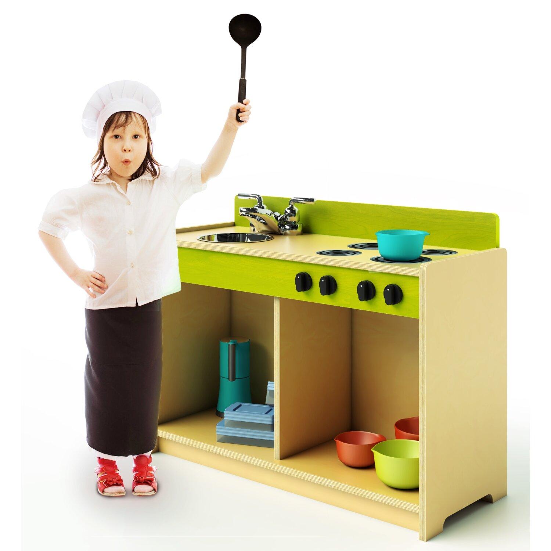 Lets play toddler kitchen set wayfair