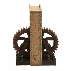 Rusted Gear Book End (Set of 2)