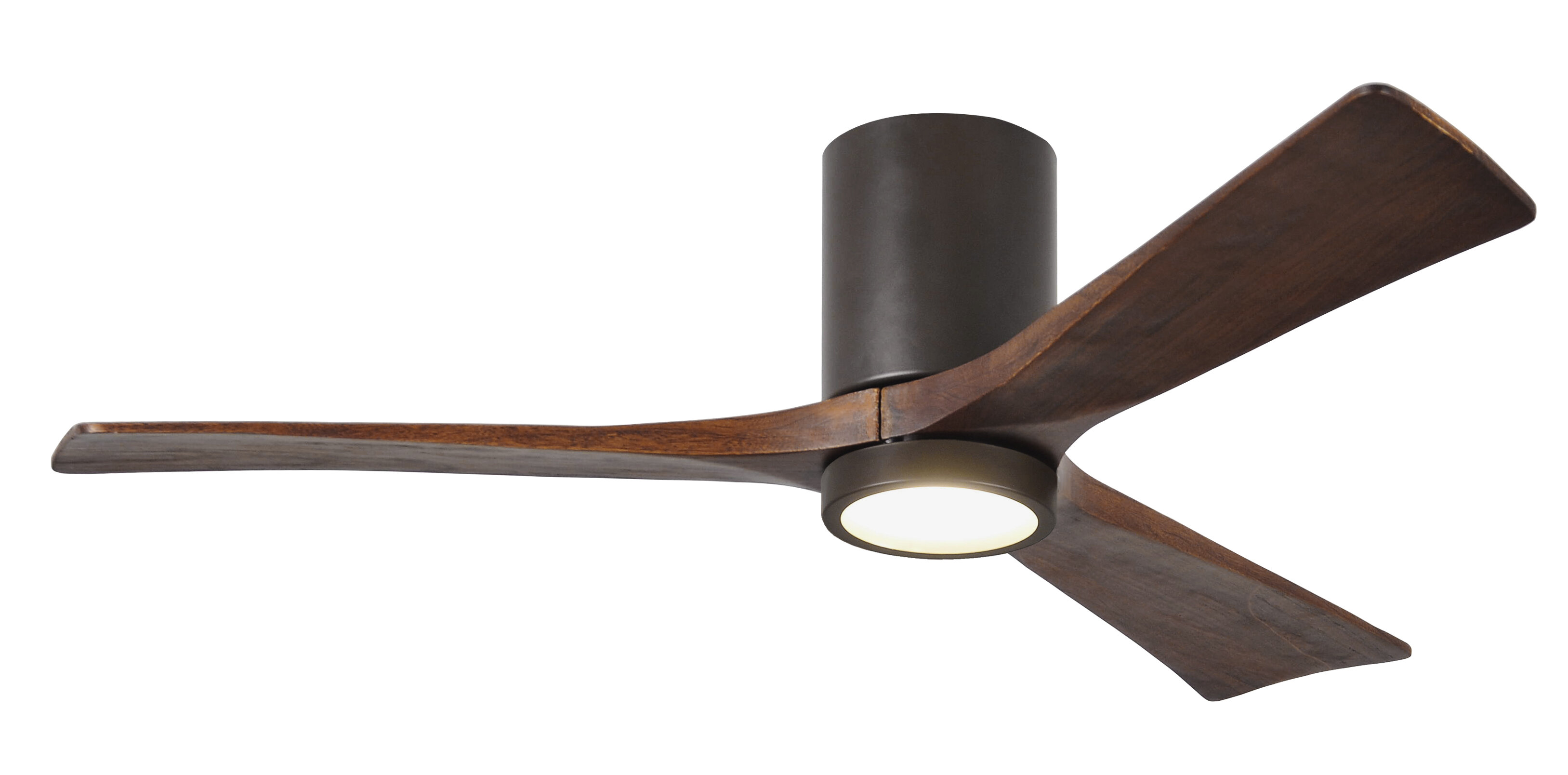 "52"" Rosalind 3 Blade Hugger Ceiling Fan with Wall Remote and Light"