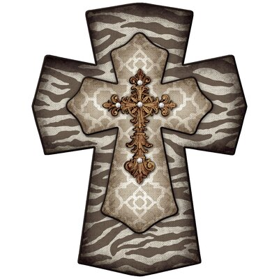 Bloomsbury Market Decorative Cross Zebra Wall Décor | Wayfair