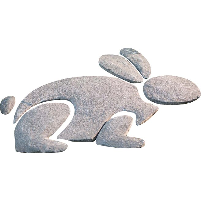 Wind weather decorative stone rabbit stepping stone for Decorative rocks for sale near me