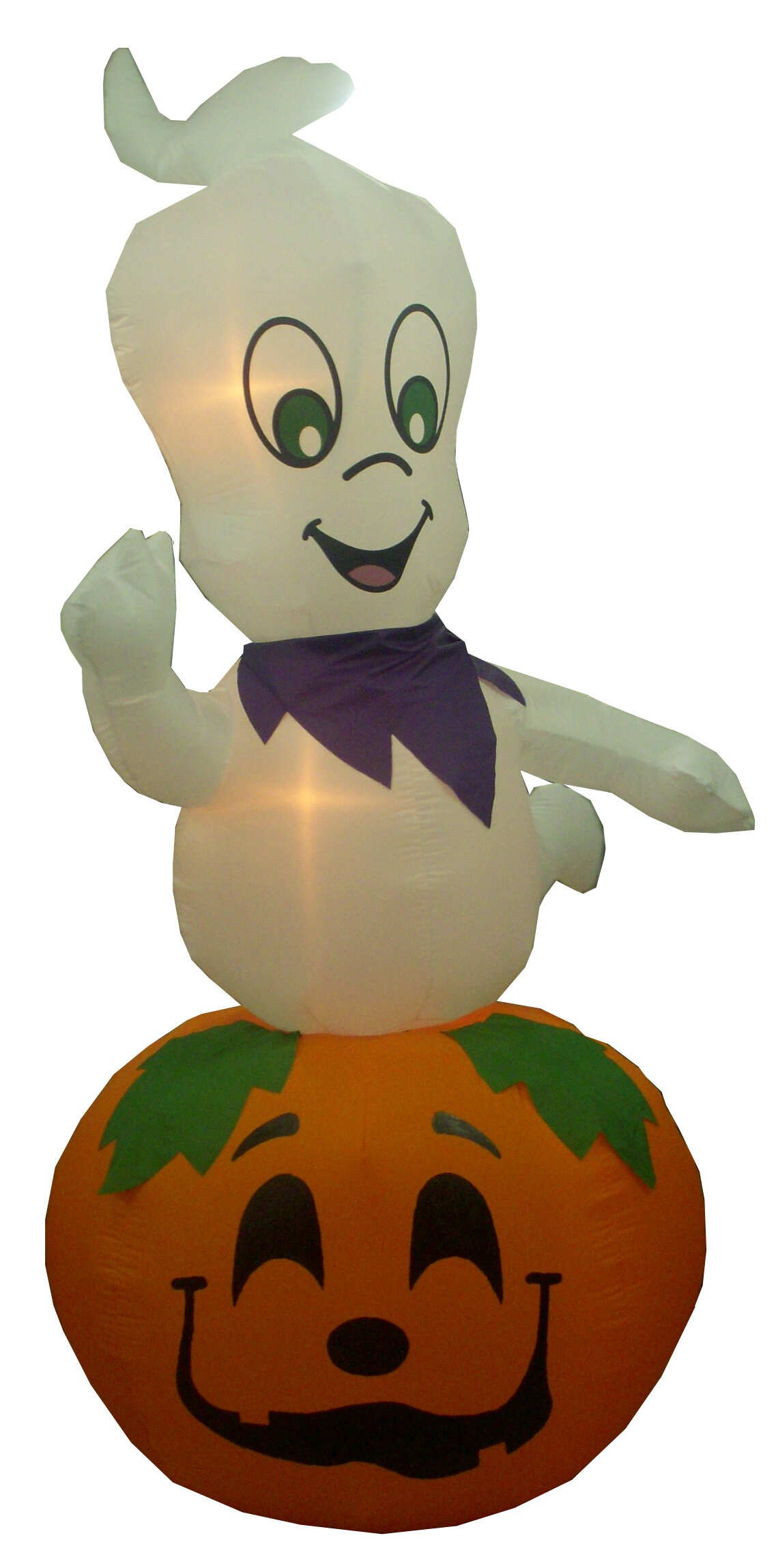 bzb goods animated halloween inflatable ghost casper on pumpkin