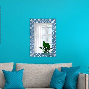 Turquoise Wall Mirror blue wall mirrors you'll love | wayfair
