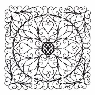 Large 3 Piece Square Scroll Wall Décor
