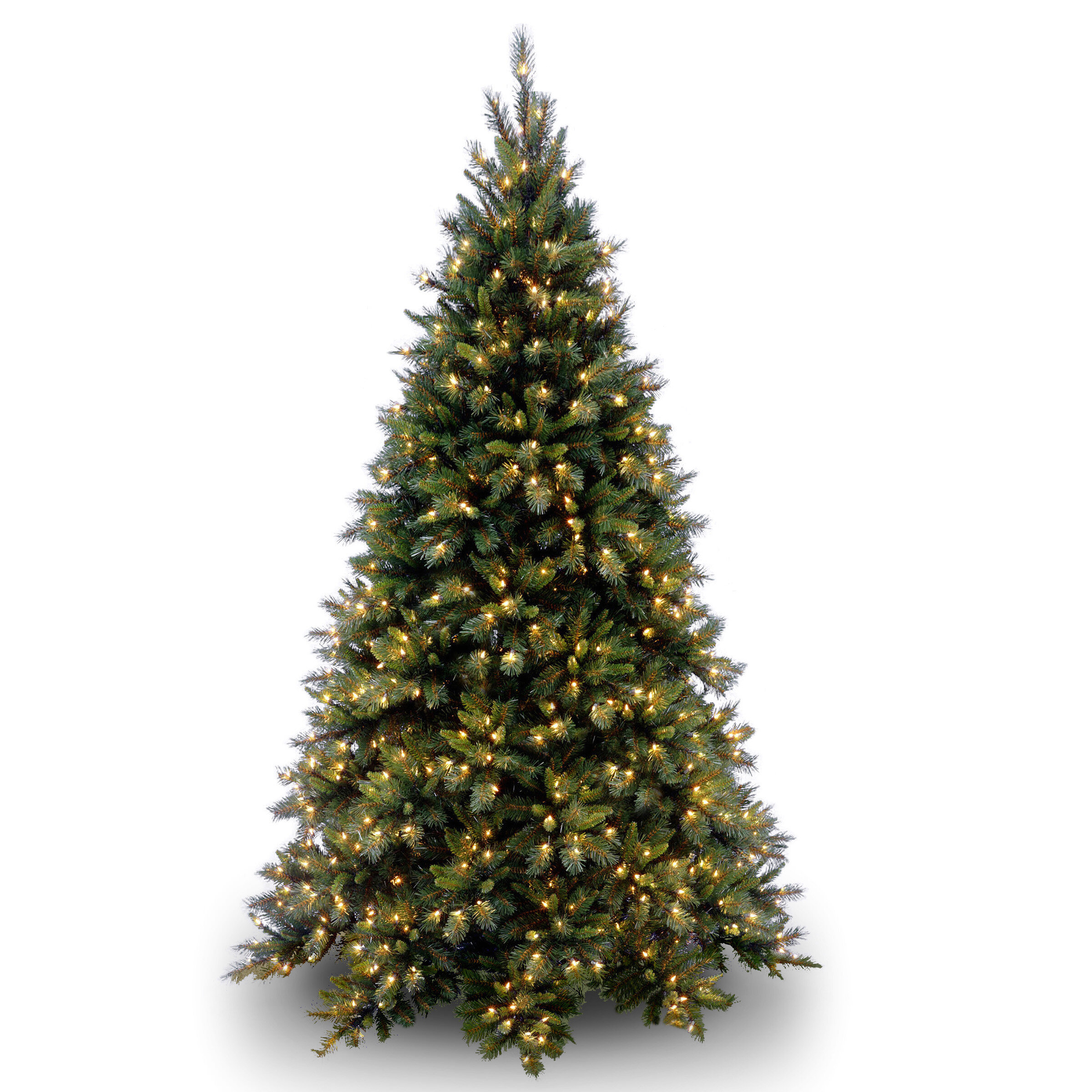 Willa Arlo Interiors Green Fir Artificial Christmas Tree with Clear ...