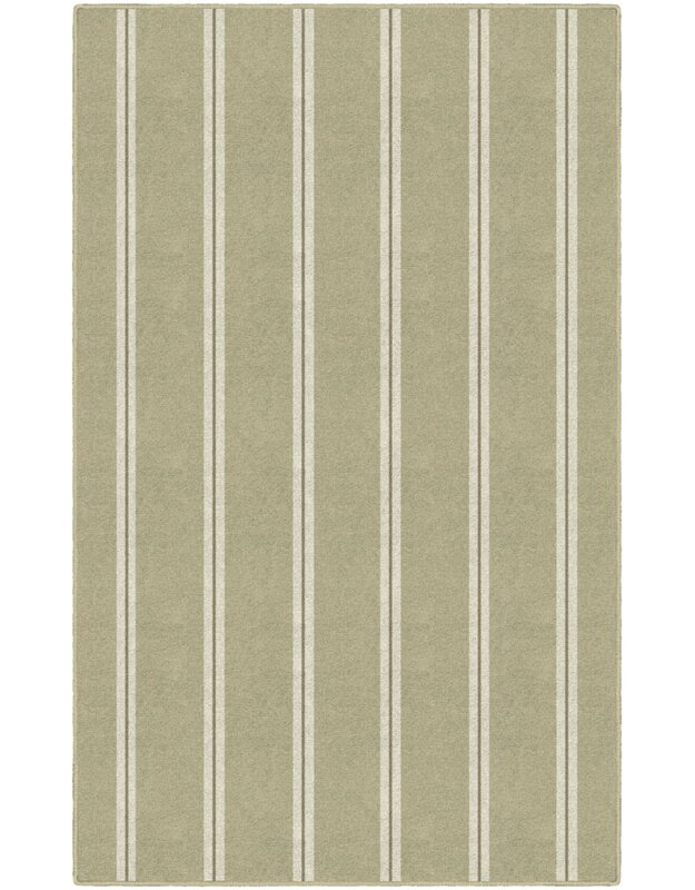 Highland Dunes Sherlyn Traditional Vertical Striped Beige Area Rug, Size: Rectangle 76 x 10