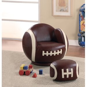 Tiemann Football Kids Novelty Chair and Ottoman