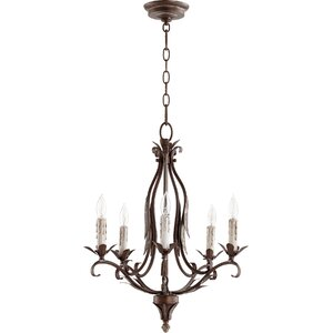 Harnois 5-Light Candle-Style Chandelier