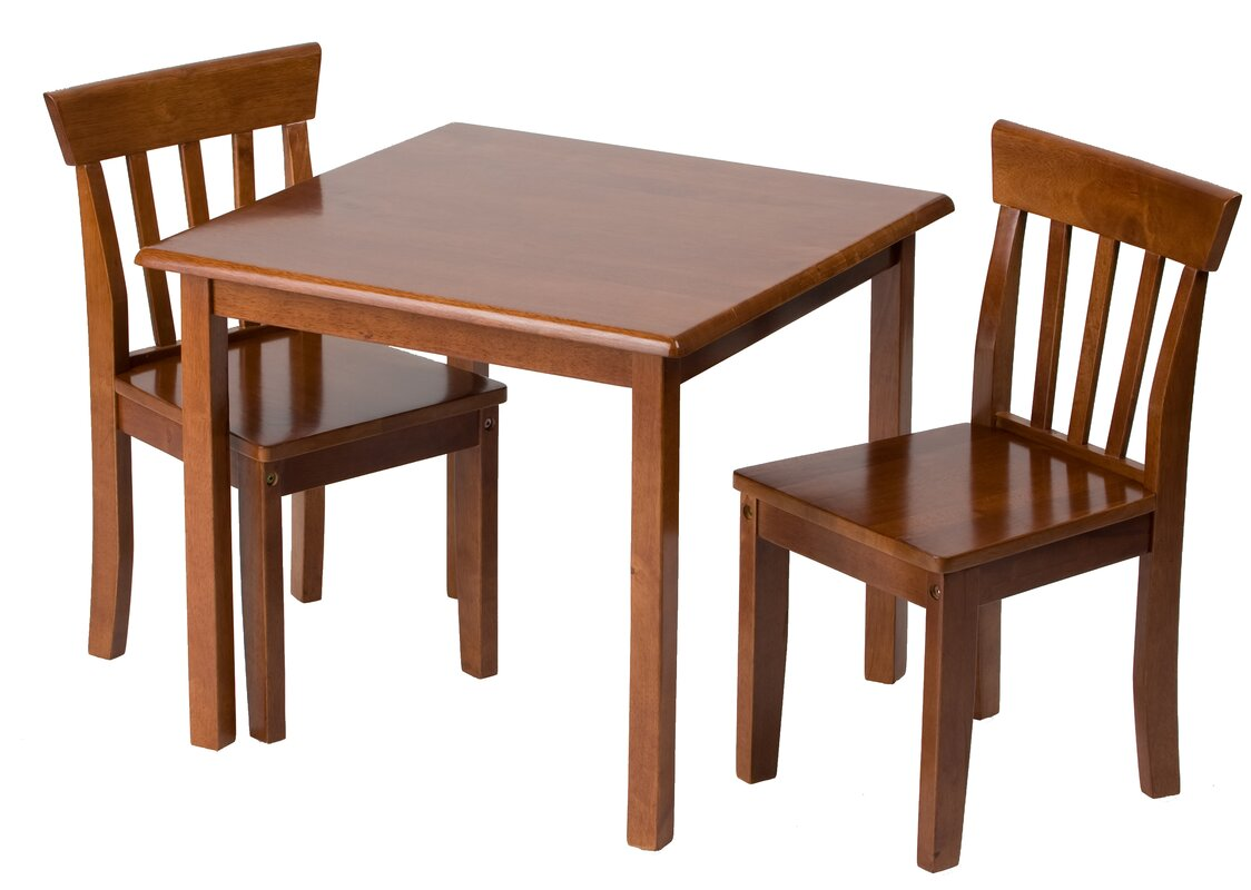 The cube medium table and 4 chairs is also available in a light finish - Children S 3 Piece Table Chair Set