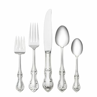 Sterling Silver Joan of Arc 5 Piece Dinner Flatware Set  sc 1 st  Wayfair : silver tableware - pezcame.com