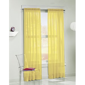 Calypso Solid Sheer Rod Pocket Single Curtain Panel
