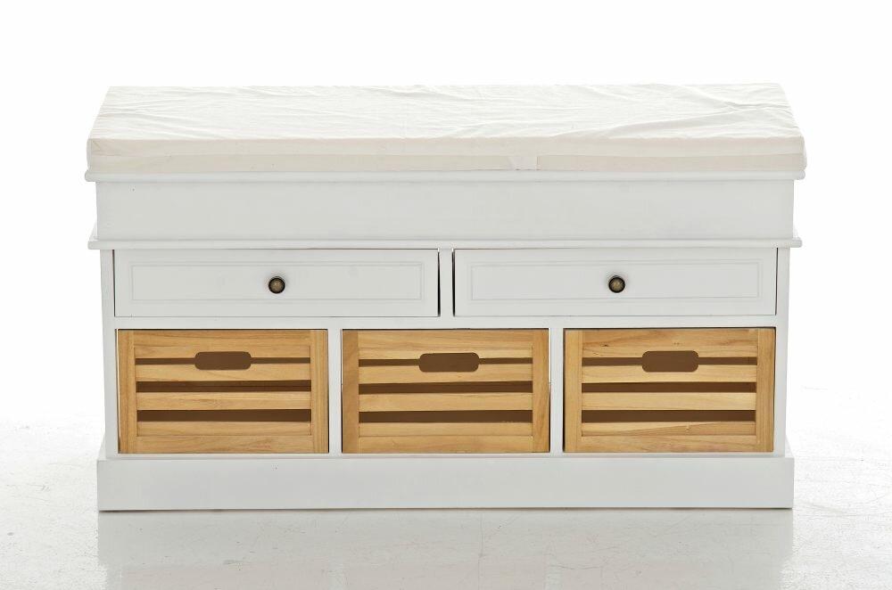home haus sitzbank schellin mit stauraum aus holz bewertungen. Black Bedroom Furniture Sets. Home Design Ideas