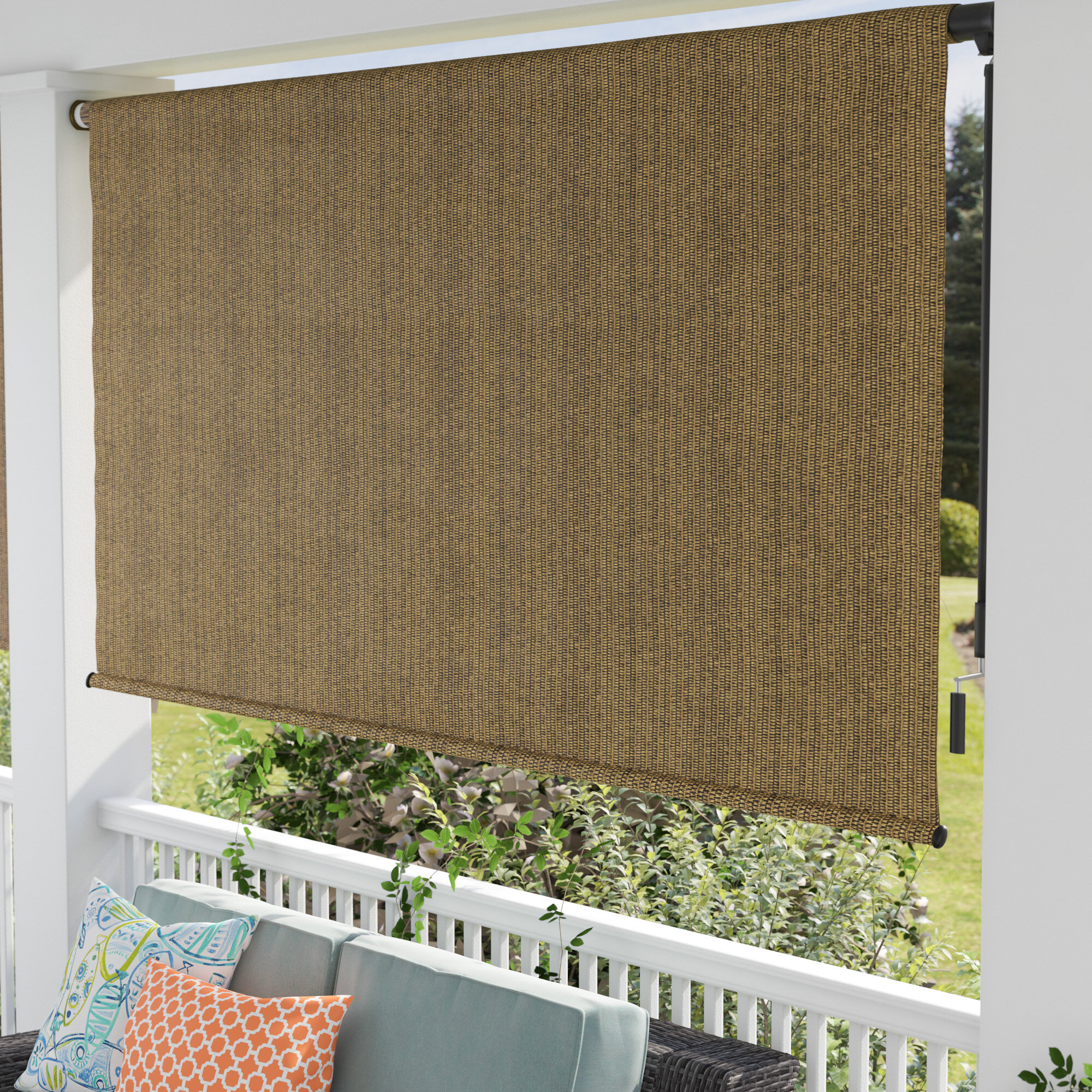 solar screen heavy blinds winds north outdoor zipper fortress track shade wind blackout for high shades