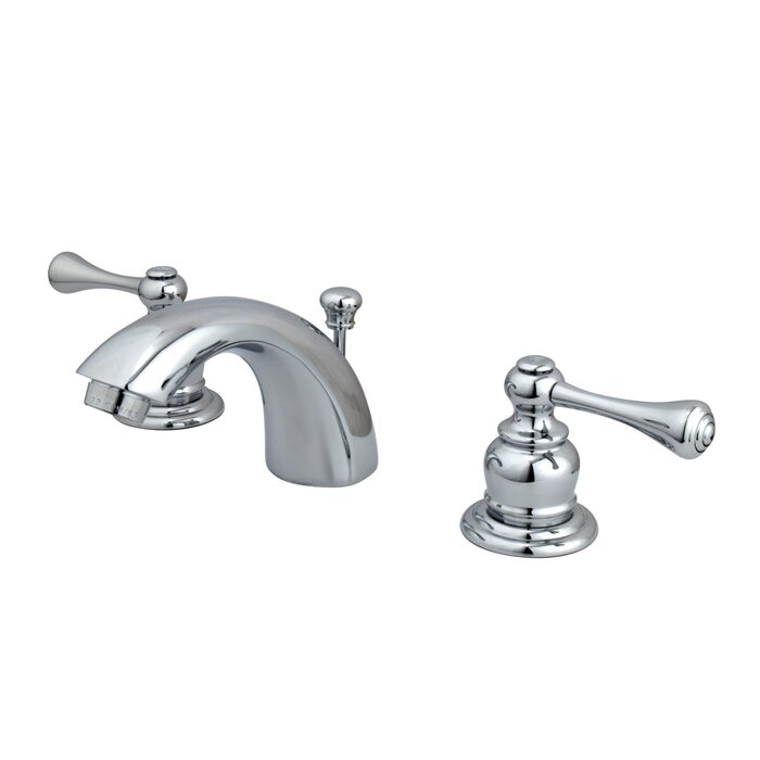 Kingston Brass Vintage Widespread Bathroom Faucet with ABS Pop-Up ...