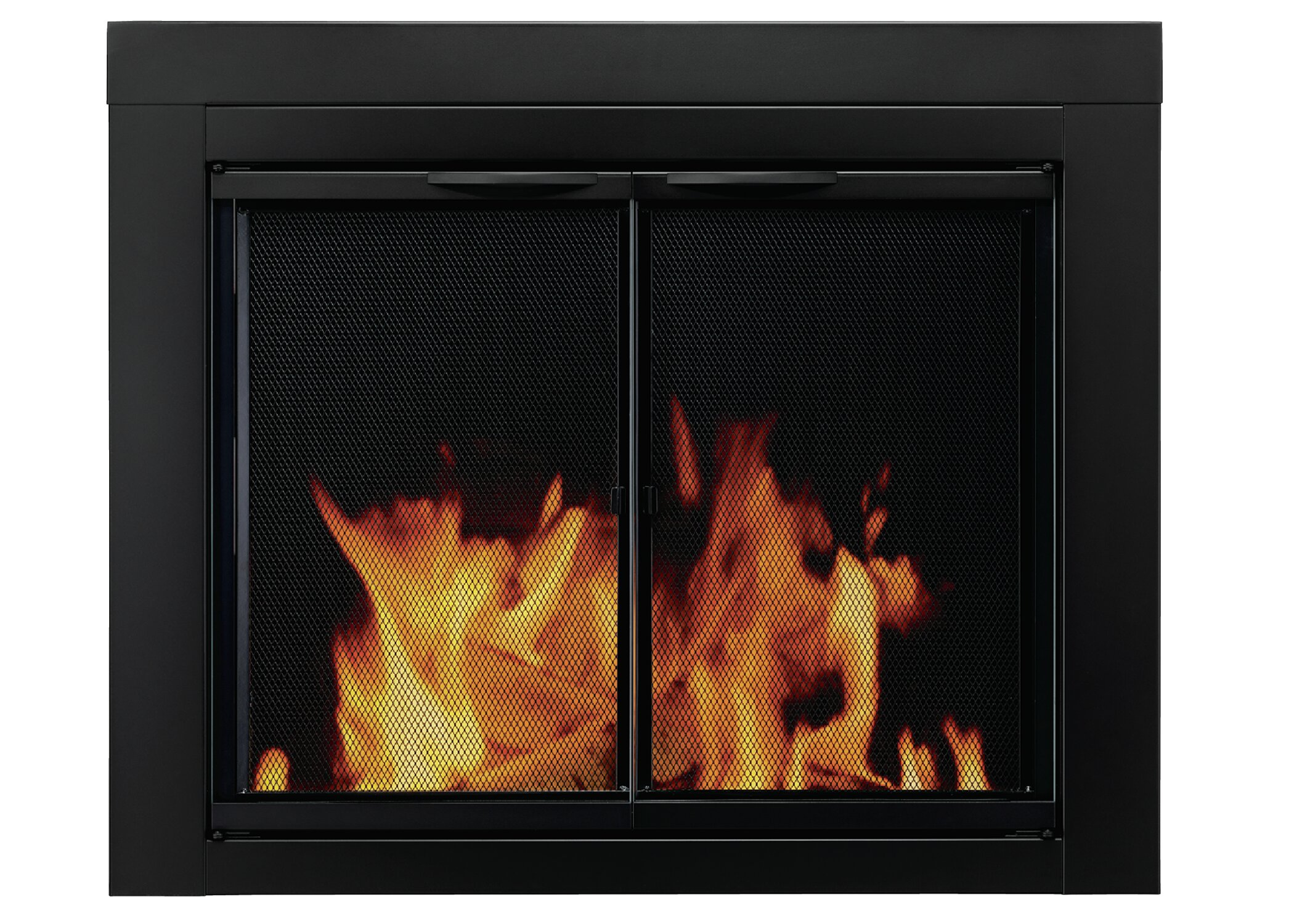 Pleasant Hearth Alpine Cabinet Style Steel Fireplace Doors Reviews