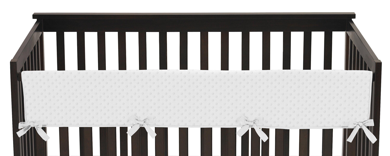 Sweet Jojo Designs Minky Dot Long Crib Rail Guard Cover Wayfair