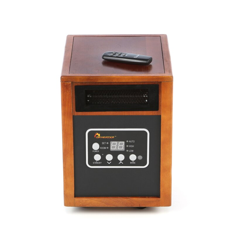 Dr. Infrared Heater 1,500 Watt Portable Electric Infrared Cabinet ...
