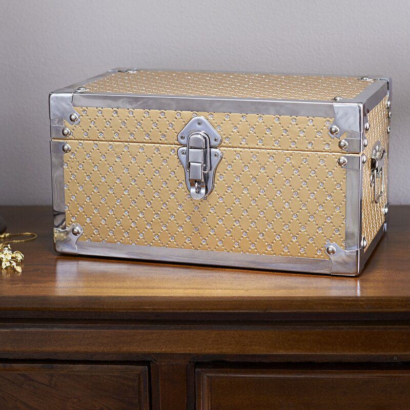 House Of Hampton Vencimont Small Bling Decorative Storage Trunk Beauteous Small Decorative Storage Boxes With Lids