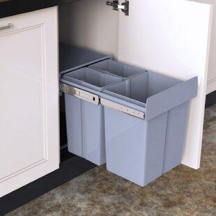 Plastic 40 Litre Pull Out Under Counter Rubbish Bin