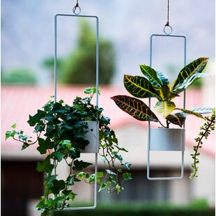 Adam Upright Metal Hanging Planter