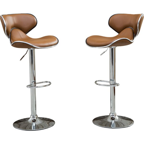 Wade Logan Harlow Adjustable Height Swivel Bar Stools