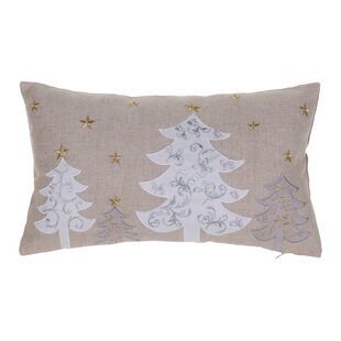 bdadf06433b White Christmas Trees Lumbar Pillow. By The Holiday Aisle