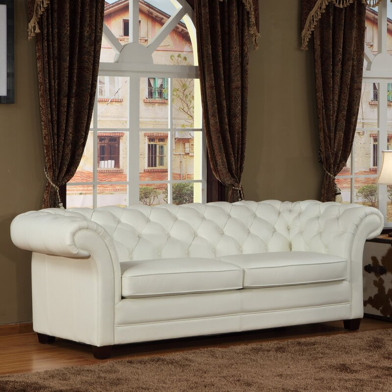 Lazzaro Leather Leather Chesterfield Sofa & Reviews