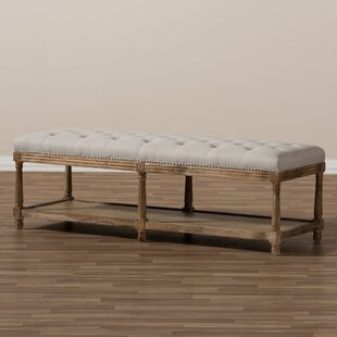 Bem French Country Upholstered Storage Bench
