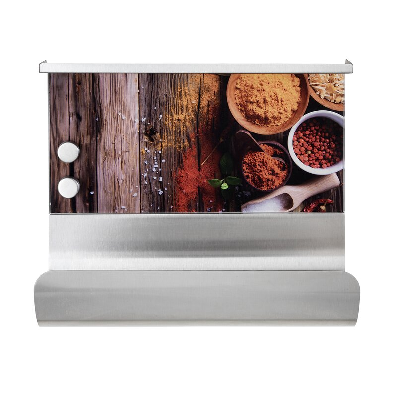 Wenko Spices Wall Mounted Magnetic Paper Towel Holder With Shelf