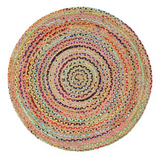Bagley Handwoven Natural/Pink Rug by Latitude Vive