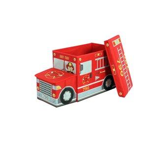 Greenway Children's Fire Truck Storage Ottoman by Greenway