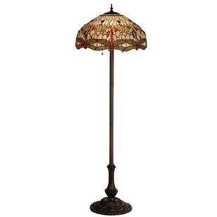 Tiffany dragonfly floor lamp wayfair tiffany hanginghead dragonfly 63 floor lamp aloadofball Gallery