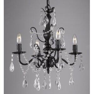 padillo 4light crystal chandelier