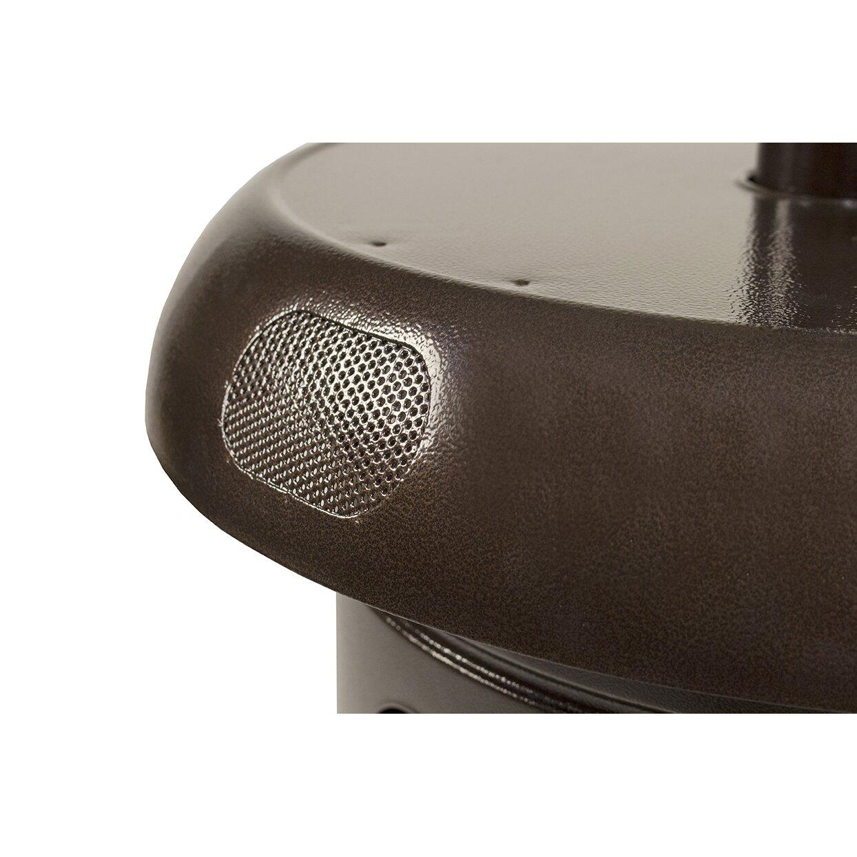 Mirage Heat Focus 38 200 Btu Propane Patio Heater With Speaker And   Mirage  Heat Focusing