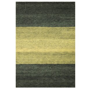 Baku Hand Knotted Wool Green Rug by Bakero