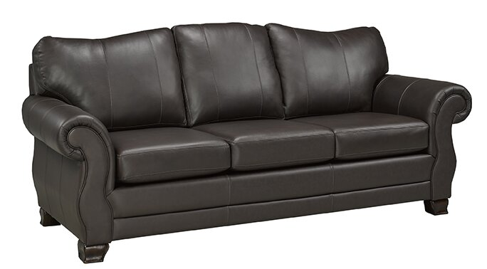 Charmant Huntington Italian Leather Sofa