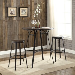 Dora 3 Piece Pub Table Set by ACME Furniture